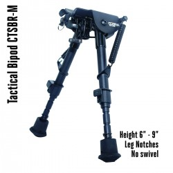 Tactical Foldable Bipod Adjustable in Height 6 – 9 inch with Leg Notches | CTSBR-M