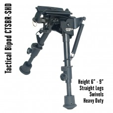 Tactical Foldable Bipod Adjustable in Height 6 – 9 inch Swivels | CTSBR-SHD