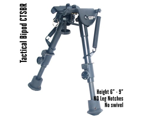Tactical Foldable Bipod Adjustable in Height 6 – 9 inch | CTSBR