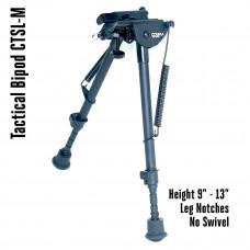 Tactical Foldable Bipod Adjustable in Height 9 – 13 inch met beeninkepingen | CTSL-M