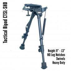 Tactical Foldable Bipod Adjustable in Height 9 – 13 inch met wartels | CTSL-SHD