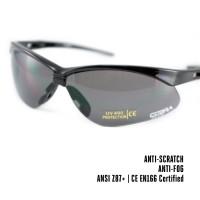 Dampvrije en krasbestendige schietbril | Veiligheidsbril voor op het werk, Skims of tijdens het schieten | Grijs