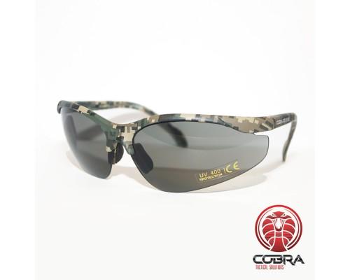 Dampvrije en krasbestendige schietbril | Veiligheidsbril voor op het werk, Skims of tijdens het schieten | Grijs - Camo