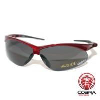 Dampvrije en krasbestendige schietbril | Veiligheidsbril voor op het werk, Skims of tijdens het schieten | Grijs - Rood