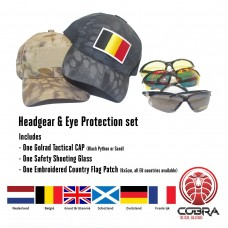 Golrad Pet & Oogbeschermingsset | EU geborduurde landenvlag editie | Promotie