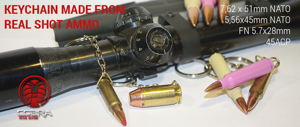 Real shot ammo keychain