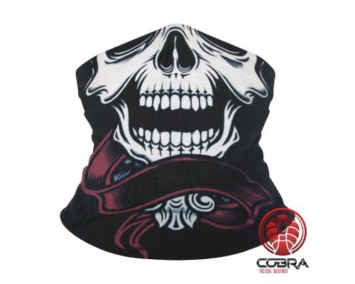 Bandana Doodshoofd zwart | Stretch | 140gsm anti-UV Polyester | 25 x 50cm