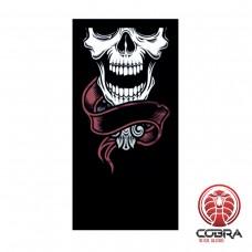 Bandana Doodshoofd zwart | Stretch | 140gsm anti-UV Polyester | 25 x 50cm| PRESALE