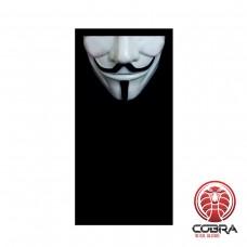 Bandana Anonymous masker zwart | Stretch | 140gsm anti-UV Polyester | 25 x 50cm| PRESALE