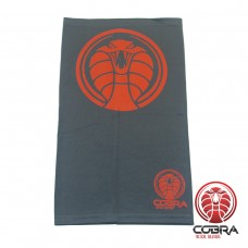 Bandana Cobra grijs rood voorzien van PM2.5 Filter + 5 PM2.5 Filters | Stretch | 140gsm anti-UV Polyester | 25 x 50cm