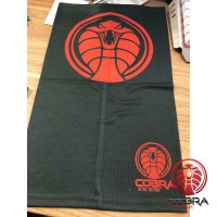 Bandana Cobra zwart rood voorzien van PM2.5 Filter + 6 PM2.5 Filters | Stretch | 140gsm anti-UV Polyester | 25 x 50cm