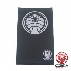 Bandana Cobra zwart grijs voorzien van PM2.5 Filter + 5 PM2.5 Filters | Stretch | 140gsm anti-UV Polyester | 25 x 50cm