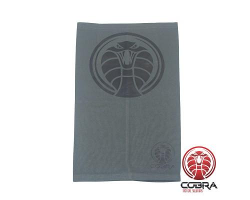 Bandana Cobra grijs voorzien van PM2.5 Filter + 5 PM2.5 Filters | Stretch | 140gsm anti-UV Polyester | 25 x 50cm
