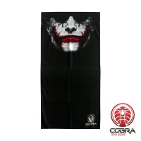 Bandana Joker Batman zwart | Stretch | 140gsm anti-UV Polyester | 25 x 50cm