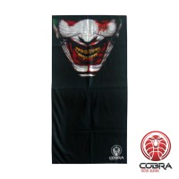 Bandana Dancing Clown zwart | Stretch | 140gsm anti-UV Polyester | 25 x 50cm