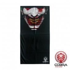 Bandana Dancing Clown zwart | Stretch | 140gsm anti-UV Polyester | 25 x 50cm