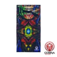 Bandana Skull Smoking | Stretch | 140gsm anti-UV Polyester | 25 x 50cm