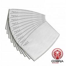 PM2.5 5-laags actieve koolstof filters voor herbruikbare mondmaskers | 5 stuks