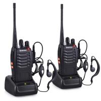 Baofeng BF-888s UHF 5Watt Portofoon set - 2 Walkie Talkies & Oortjes