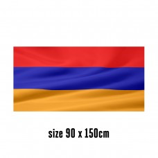 Flag of Armenia - 90 x 150 cm | 2 side hooks | 200D Durable Polyester