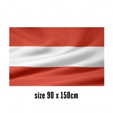 Flag of Austria - 90 x 150 cm | 2 side hooks | 200D Durable Polyester