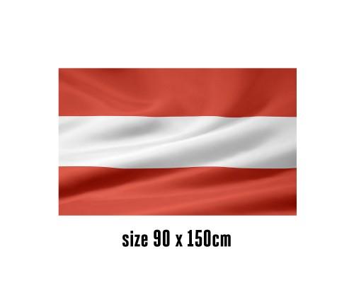 Flag of Austria - 90 x 150 cm | 2 side hooks | 200D Durable Polyester