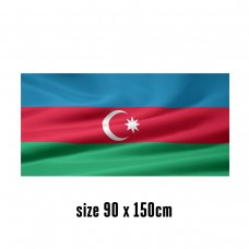 Flag of Azerbaijan  - 90 x 150 cm | 2 side hooks | 200D Durable Polyester