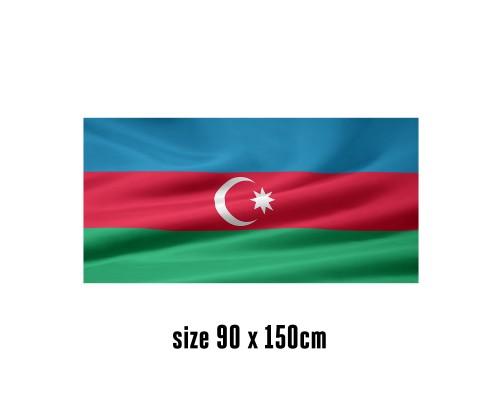 Flag of Azerbaijan  - 90 x 150 cm | 2 side hooks | 200D Durable Polyester