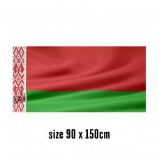 Flag of Belarus - 90 x 150 cm | 2 side hooks | 200D Durable Polyester