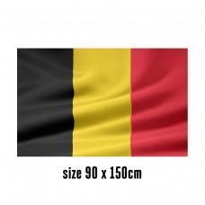 Vlag België - 90 x 150 cm | 2 zijhaken | 200D Durable Polyester