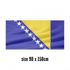Flag of Bosnia and Herzegovina - 90 x 150 cm | 2 side hooks | 200D Durable Polyester