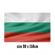 Flag of Bulgaria - 90 x 150 cm | 2 side hooks | 200D Durable Polyester