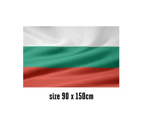 Flag of Bulgaria - 90 x 150 cm | 2 side hooks | 200D Durable Polyester
