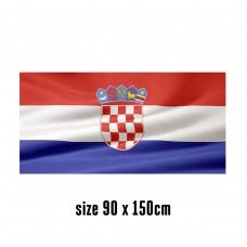 Flag of Croatia - 90 x 150 cm | 2 side hooks | 200D Durable Polyester