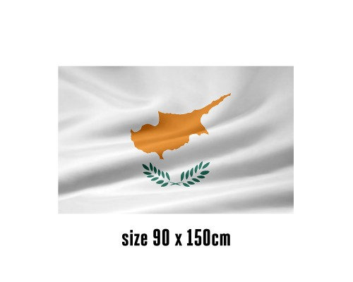 Flag of Cyprus - 90 x 150 cm | 2 side hooks | 200D Durable Polyester