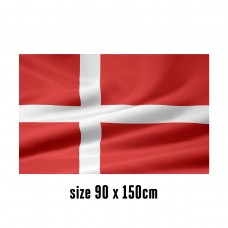 Flag of Denmark - 90 x 150 cm   2 side hooks   200D Durable Polyester
