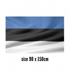 Flag of Estonia - 90 x 150 cm   2 side hooks   200D Durable Polyester