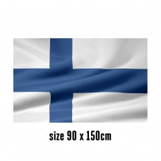 Flag of Finland - 90 x 150 cm   2 side hooks   200D Durable Polyester