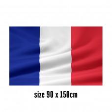 Flag of France - 90 x 150 cm   2 side hooks   200D Durable Polyester