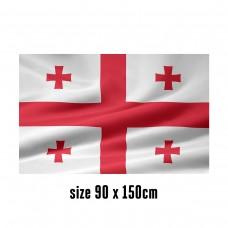 Flag of Georgia - 90 x 150 cm   2 side hooks   200D Durable Polyester