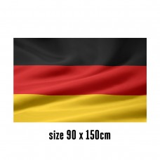 Flag of Germany - 90 x 150 cm   2 side hooks   200D Durable Polyester
