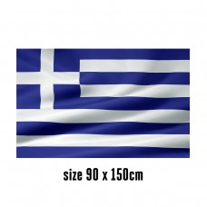 Flag of Greece - 90 x 150 cm   2 side hooks   200D Durable Polyester