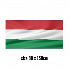 Flag of Hungary - 90 x 150 cm   2 side hooks   200D Durable Polyester