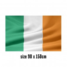 Flag of Ireland - 90 x 150 cm   2 side hooks   200D Durable Polyester