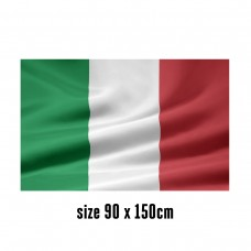 Flag of Italy - 90 x 150 cm   2 side hooks   200D Durable Polyester