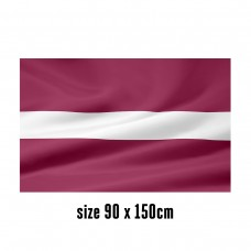 Flag of Latvia - 90 x 150 cm   2 side hooks   200D Durable Polyester