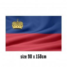Flag of Liechtenstein - 90 x 150 cm   2 side hooks   200D Durable Polyester