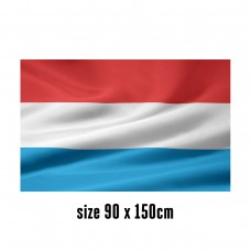 Flag of Luxembourg - 90 x 150 cm   2 side hooks   200D Durable Polyester