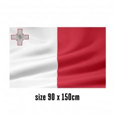 Flag of Malta - 90 x 150 cm   2 side hooks   200D Durable Polyester
