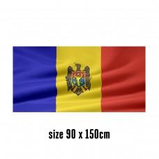 Flag of Moldova - 90 x 150 cm   2 side hooks   200D Durable Polyester